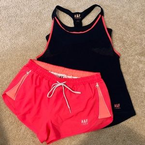 Abercrombie & Fitch Active tank and shorts